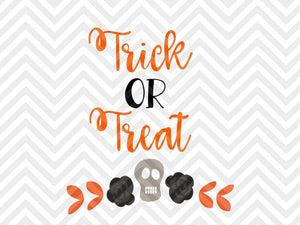 Trick or Treat Halloween Pumpkin Fall Decor SVG and DXF Cut File • PNG • Download File • Cricut • Silhouette - SVG File Cricut Kristin Amanda Designs