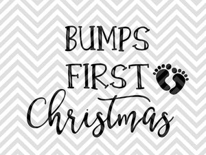 Baby Bumps First Christmas Maternity SVG and DXF Cut File • PNG • Vector • Calligraphy • Download File • Cricut • Silhouette - Kristin Amanda Designs