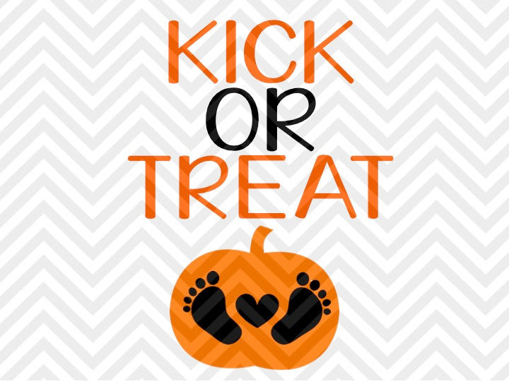 Kick or Treat Halloween Pregnancy SVG and DXF Cut File • Png • Download File • Cricut • Silhouette - SVG File Cricut Kristin Amanda Designs