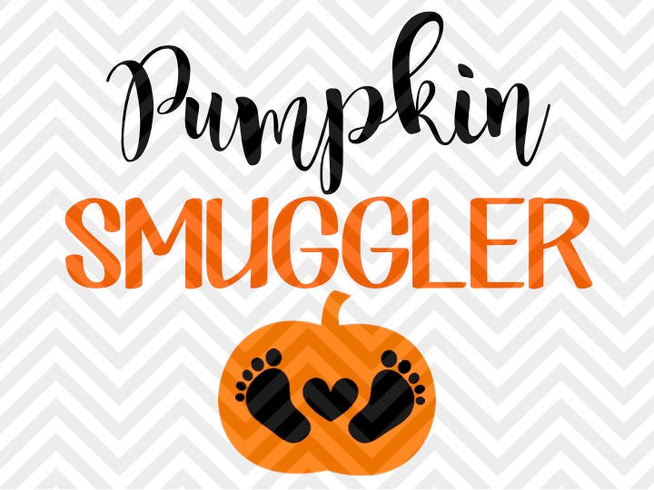 Pumpkin Smuggler Halloween Pregnancy SVG and DXF Cut File • Png • Download File • Cricut • Silhouette - SVG File Cricut Kristin Amanda Designs