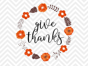 Download Give Thanks With A Grateful Heart Svg Design