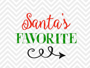 Santa's Favorite Christmas Elf SVG and DXF Cut File • Png • Download File • Cricut • Silhouette - SVG File Cricut Kristin Amanda Designs