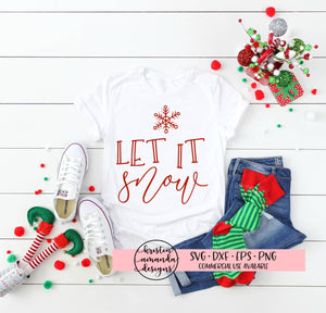 Let it Snow Christmas SVG DXF EPS PNG Cut File • Cricut • Silhouette
