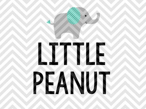 Little Peanut SVG and DXF Cut File • PNG • Vector • Calligraphy • Download File • Cricut • Silhouette - SVG File Cricut Kristin Amanda Designs