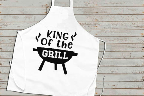 King of the Grill Dad Father's Day SVG DXF EPS PNG Cut File • Cricut • Silhouette - SVG File Cricut Kristin Amanda Designs