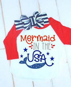 Mermaid in the USA Fourth of July SVG DXF EPS PNG Cut File • Cricut • Silhouette - SVG File Cricut Kristin Amanda Designs