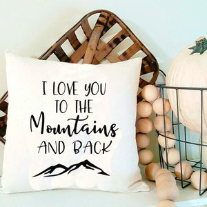 I Love You To The Mountains and Back SVG and DXF EPS Cut File • Cricut • Silhouette - SVG File Cricut Kristin Amanda Designs