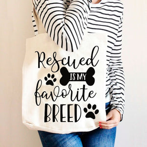 Rescued is My Favorite Breed SVG DXF EPS PNG Cut File • Cricut • Silhouette - SVG File Cricut Kristin Amanda Designs