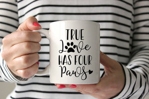 True Love Has Four Paws SVG DXF EPS PNG Cut File • Cricut • Silhouette - SVG File Cricut Kristin Amanda Designs