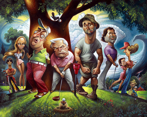 22x28 Bushwood - Tribute to Caddyshack