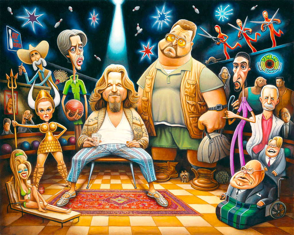 22x28 Tribute to The Big Lebowski