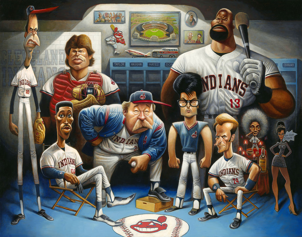 22x28 The Tribe - A Tribute to Major League