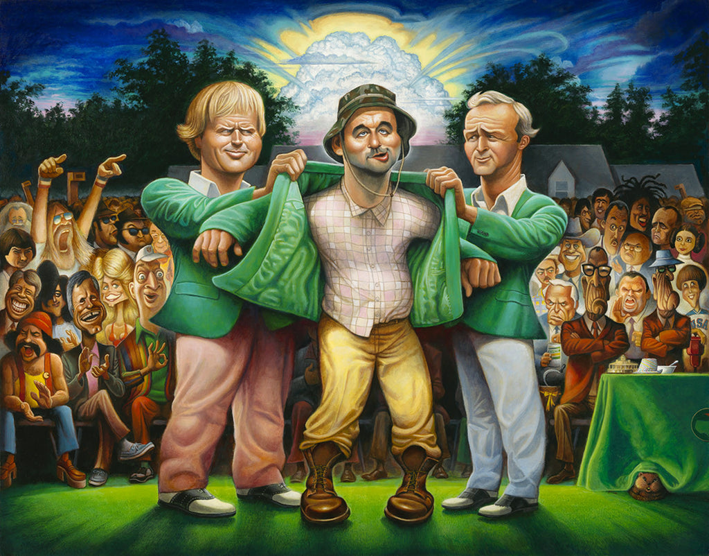 22x28 The Green Jacket - A Tribute to Carl Spackler and 1980