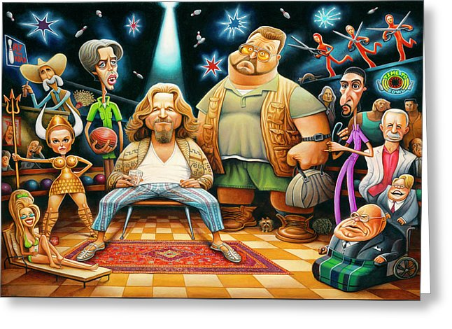 Tribute To The Big Lebowski - Greeting Card