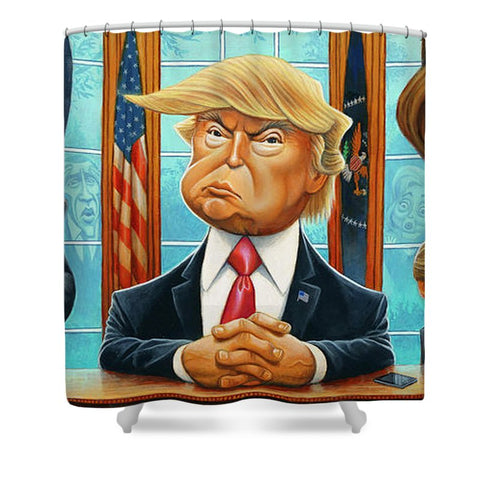 Tribute To Trump - Shower Curtain