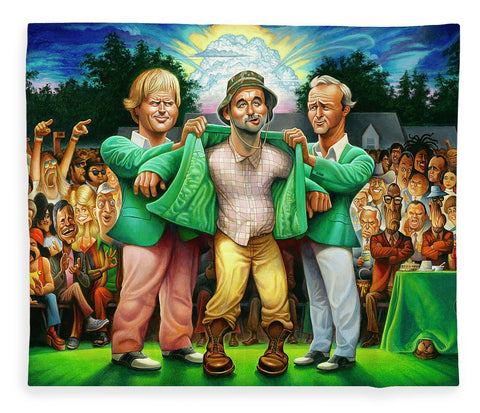 Tribute To The Green Jacket - Blanket