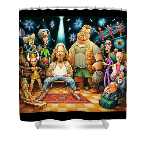 Tribute To The Big Lebowski - Shower Curtain