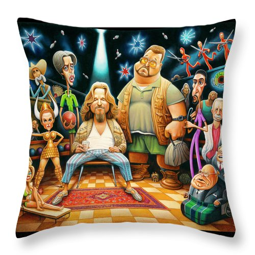 Tribute To The Big Lebowski - Throw Pillow