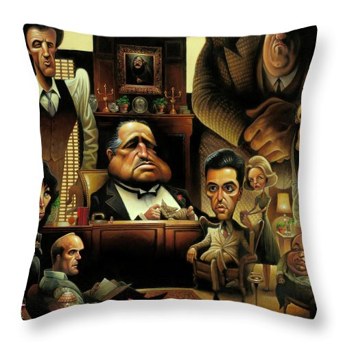Tribute To The Godfather - Throw Pillow