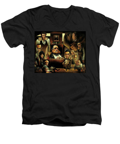 Tribute To The Godfather - Men's V-Neck T-Shirt