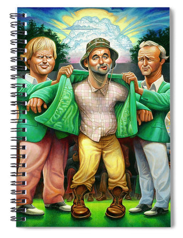 Tribute To The Green Jacket - Spiral Notebook