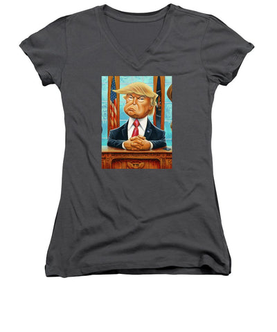 Tribute To Trump - Women's V-Neck (Athletic Fit)