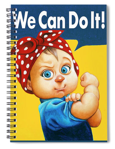 We Can Do It - Spiral Notebook