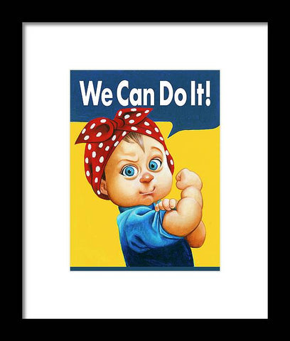 We Can Do It - Framed Print