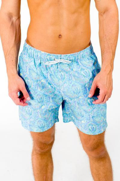 cf32371fb6 Michaels Swim Trunks- Blue Paisley
