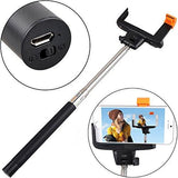 Wireless Bluetooth Extendable Camera Holder For All Mobile Phones (Black)