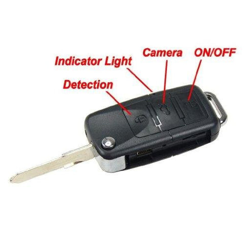Mini DV Key Spy Camera Car Remote Keyring/Keychain - Mobile/Motion Detection fob Surveillance Hidden Camera with voice and video recording.. High Resolution (HD) Recording 640*480,1280* 960 VGA @30fps