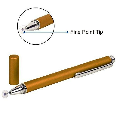 Mini Stylus Jot Fine Point Pen For Sony Xperia Z1, Z2, Z3, Samsung Galaxy S3, S4, S5, S6, S6 Edge, iPhone 4, 4, 5s, 6, 6 plus, HTC M8, M9, Mini, Nokia Lumia and other touch screen devices (Gold)