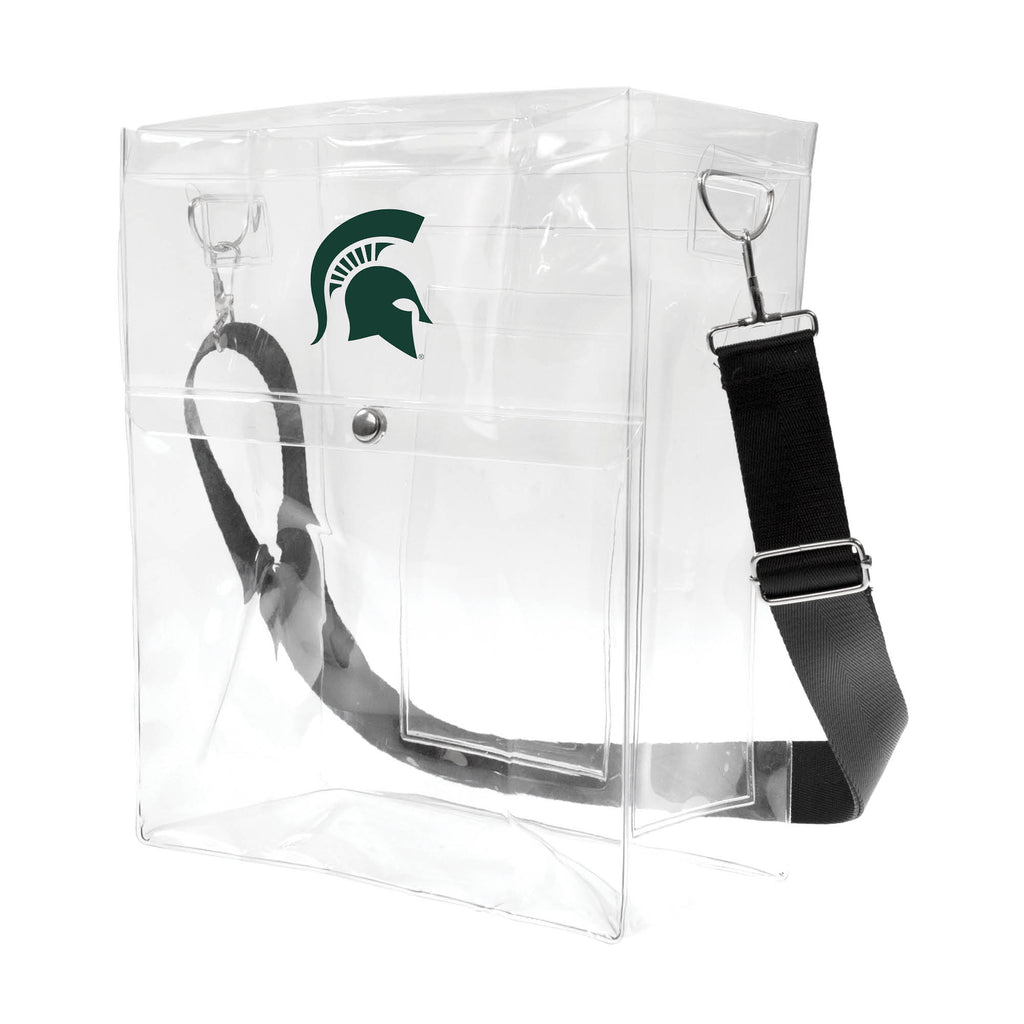 Michigan State University Clear Ticket Satchel