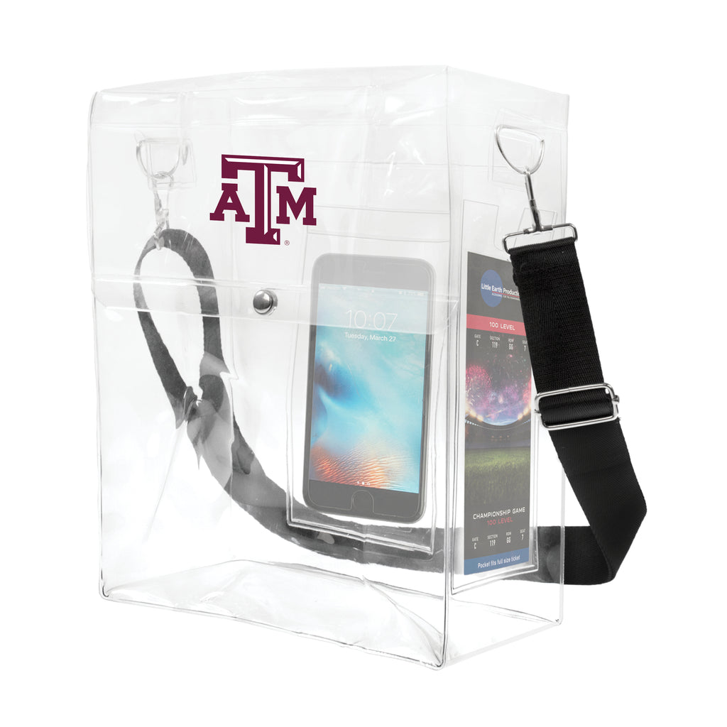 Texas A & M University Clear Ticket Satchel