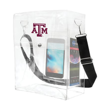 Load image into Gallery viewer, Texas A & M University Clear Ticket Satchel