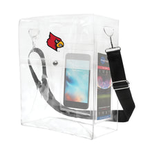 Load image into Gallery viewer, University of Louisville Clear Ticket Satchel