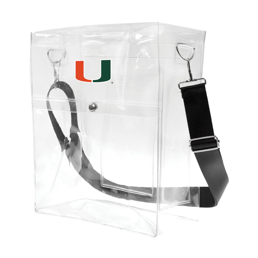 University of Miami Clear Ticket Satchel