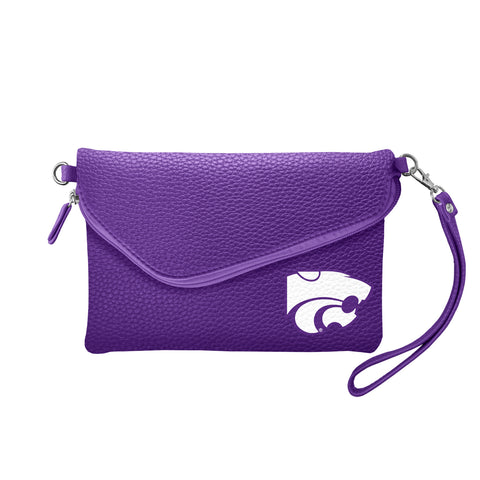 Kansas State University Fold Over Crossbody Pebble