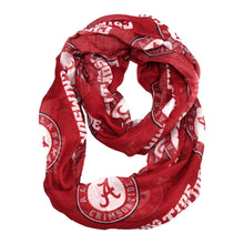 Load image into Gallery viewer, University of Alabama Sheer Infinity Scarf