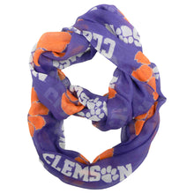 Load image into Gallery viewer, Clemson University Sheer Infinity Scarf