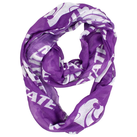 Kansas State University Sheer Infinity Scarf