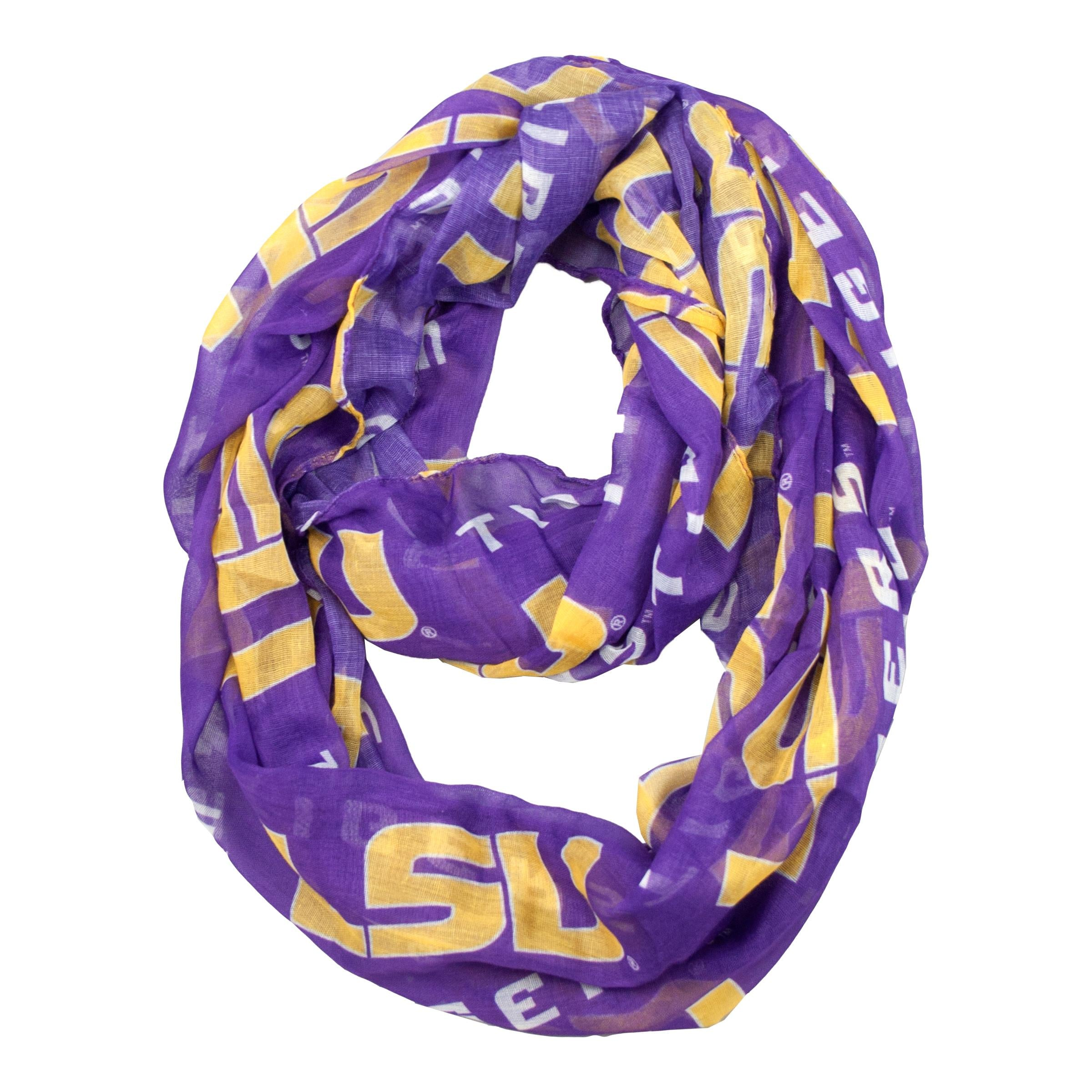 Louisiana State Fightin Tigers Sheer Infinity Scarf
