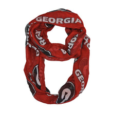 Load image into Gallery viewer, University of Georgia Sheer Infinity Scarf