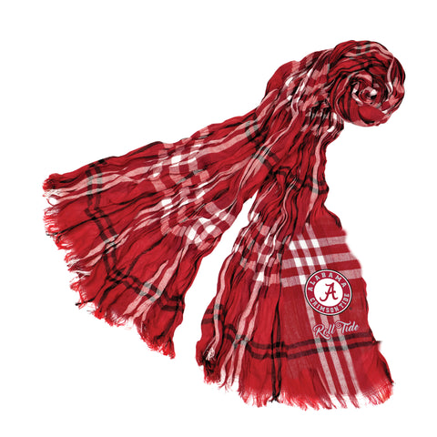 Alabama Crimson Tide Crinkle Scarf Plaid