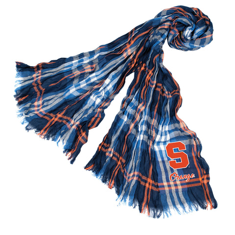 Syracuse Orange Crinkle Scarf Plaid