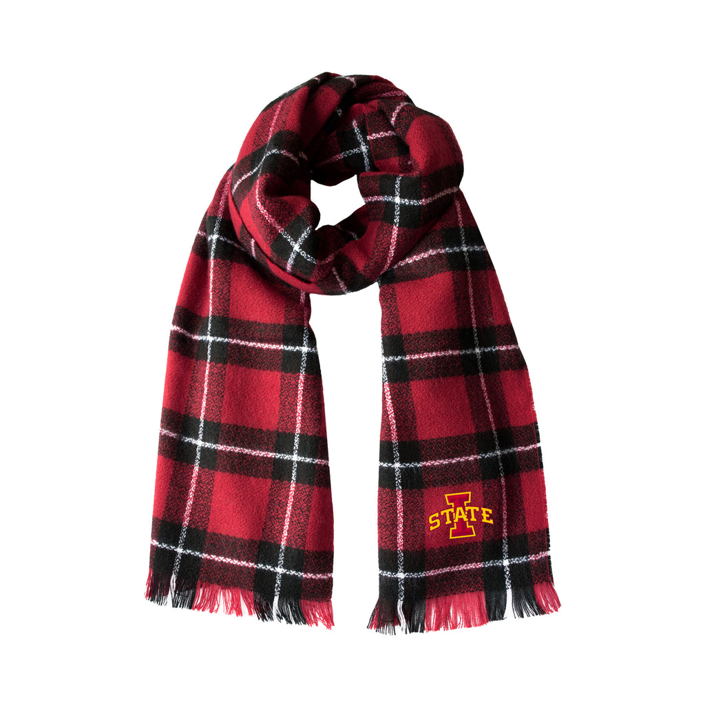 Iowa State University Plaid Blanket Scarf