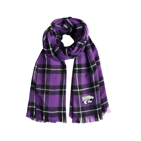 Kansas State University Plaid Blanket Scarf