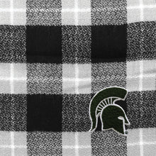 Load image into Gallery viewer, Michigan State University Plaid Blanket Scarf