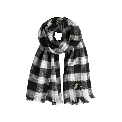Mississippi State University Plaid Blanket Scarf
