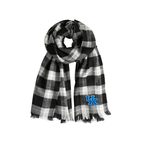 University of Kentucky Plaid Blanket Scarf